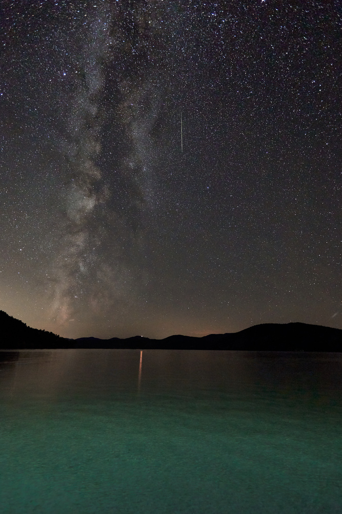 Milky Way over Lake George, NY by Dan Lubbers