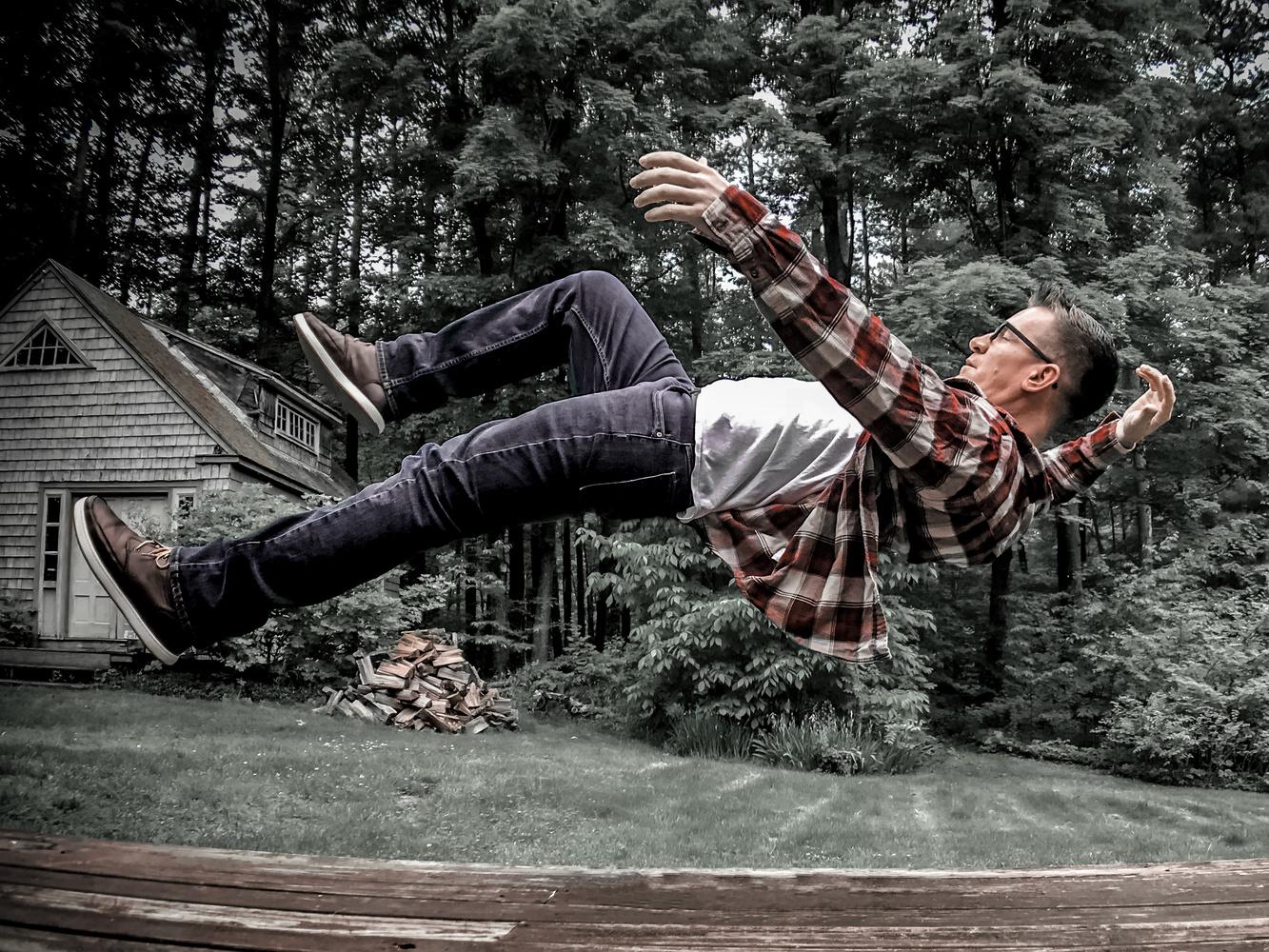 Falling in Slow Motion by Zach Holmes