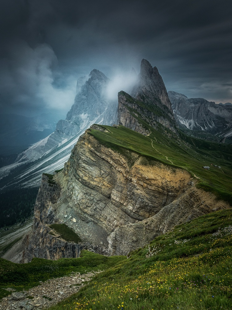 Stormy day in Seceda by Efren Yanes