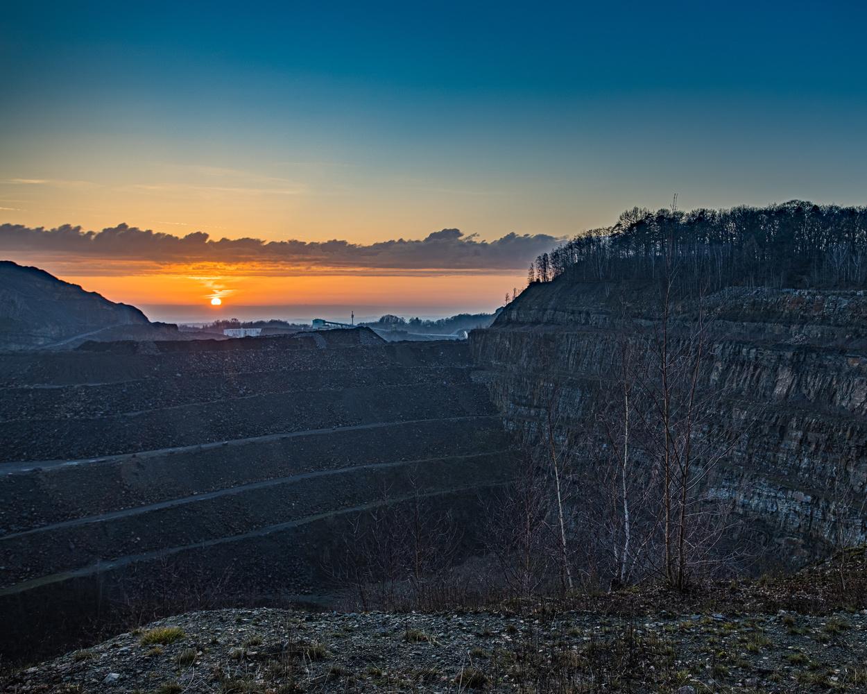 Quarry at sundown by Sebastian Dannenberg