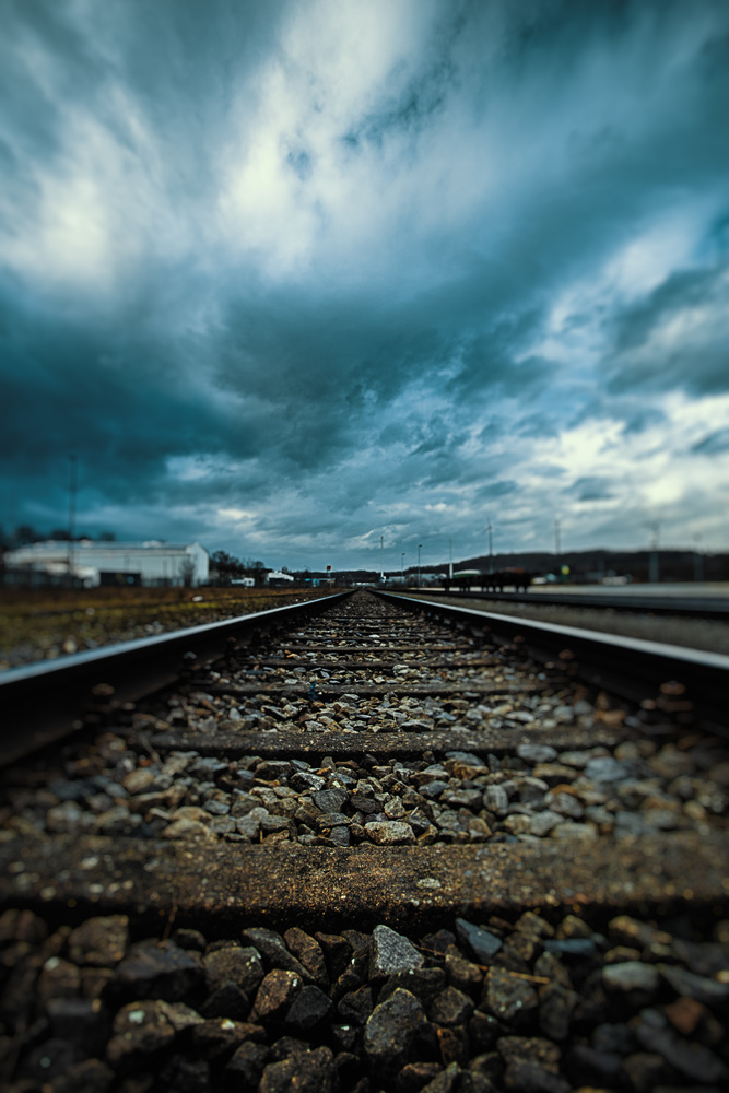 Old train track (not active) by Sebastian Dannenberg