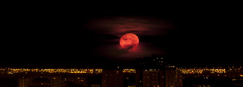 Moonset by Sandeep Nigam