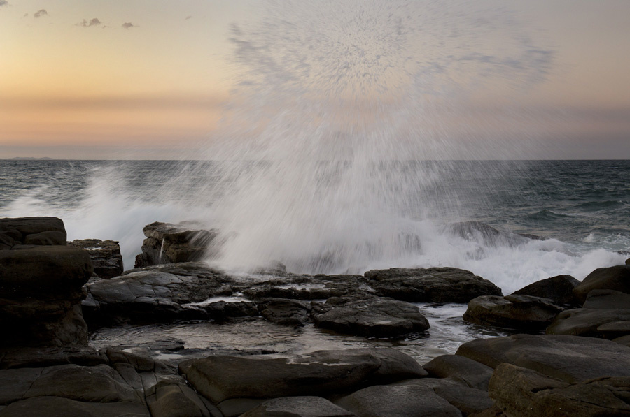 Sunset Spray, Mooloolaba by Greg Pierce