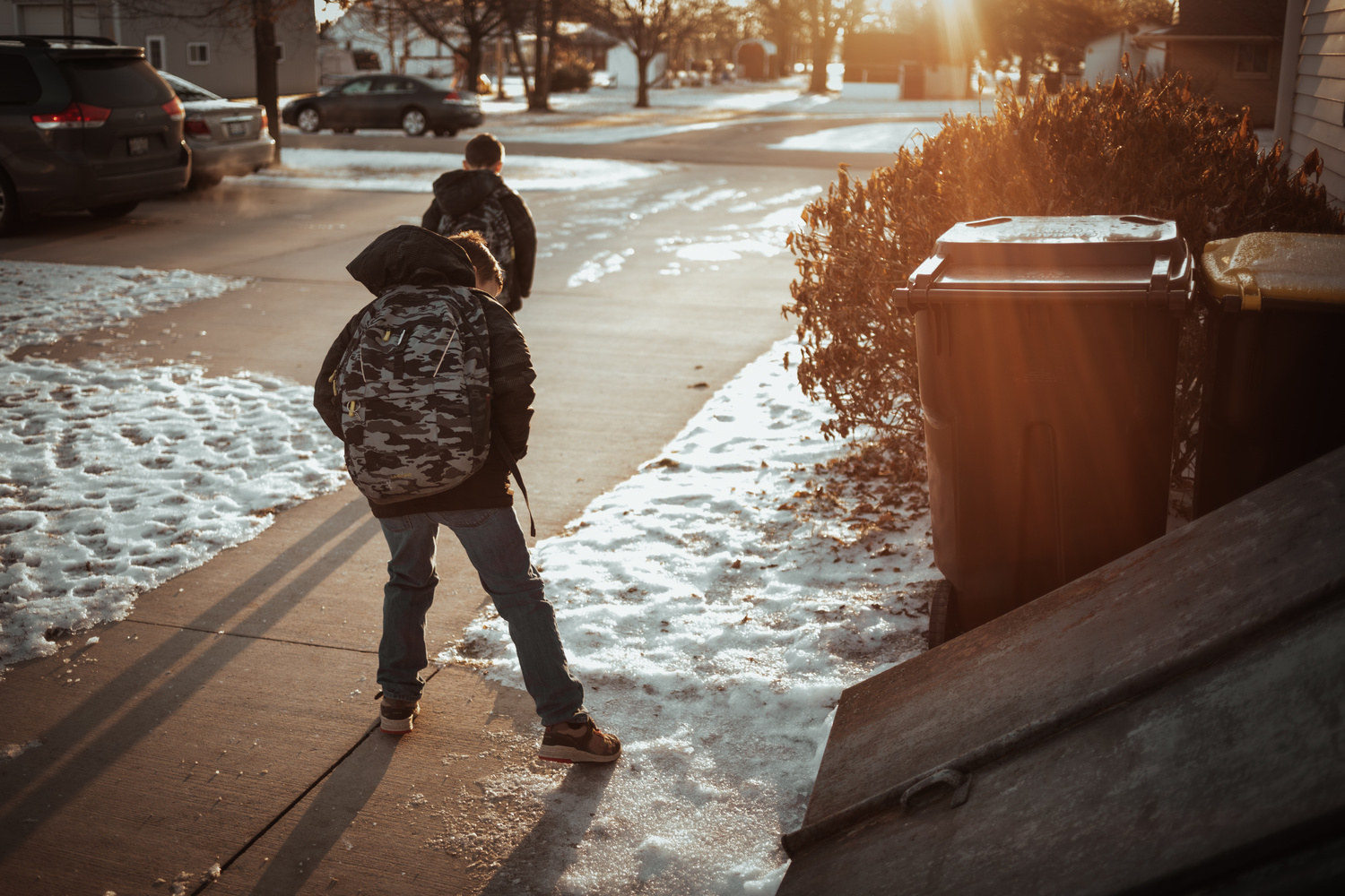 On the Way to School by Heather Wilson