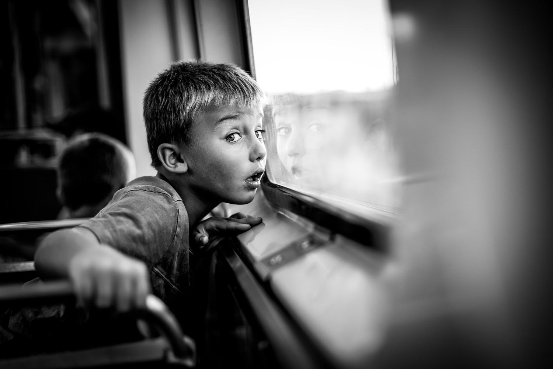 Rural Kid Sees Windy City Skyline by Heather Wilson
