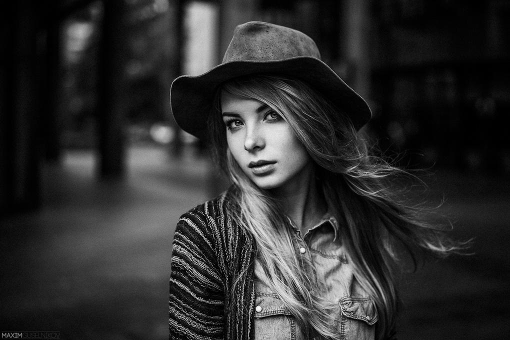 Irina B&W by Maxim Guselnikov