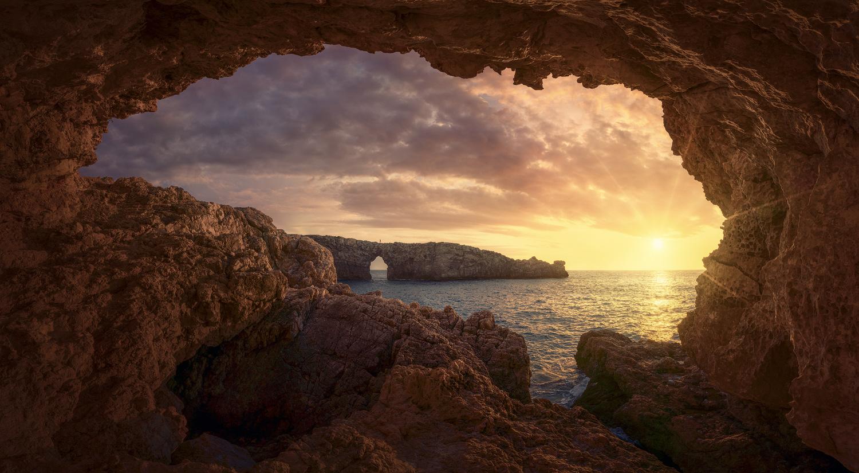 Menorca Cliffs Sunset by Daniel Viñé