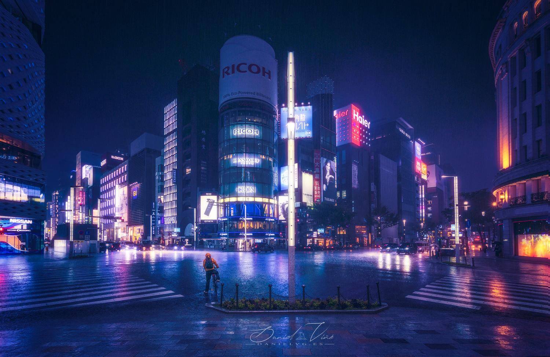 Storm in Tokyo by Daniel Viñé