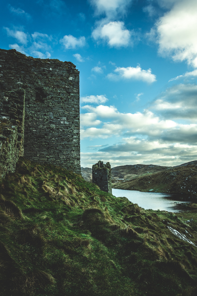 Dunlough Castle and its lake by Norbert Antal