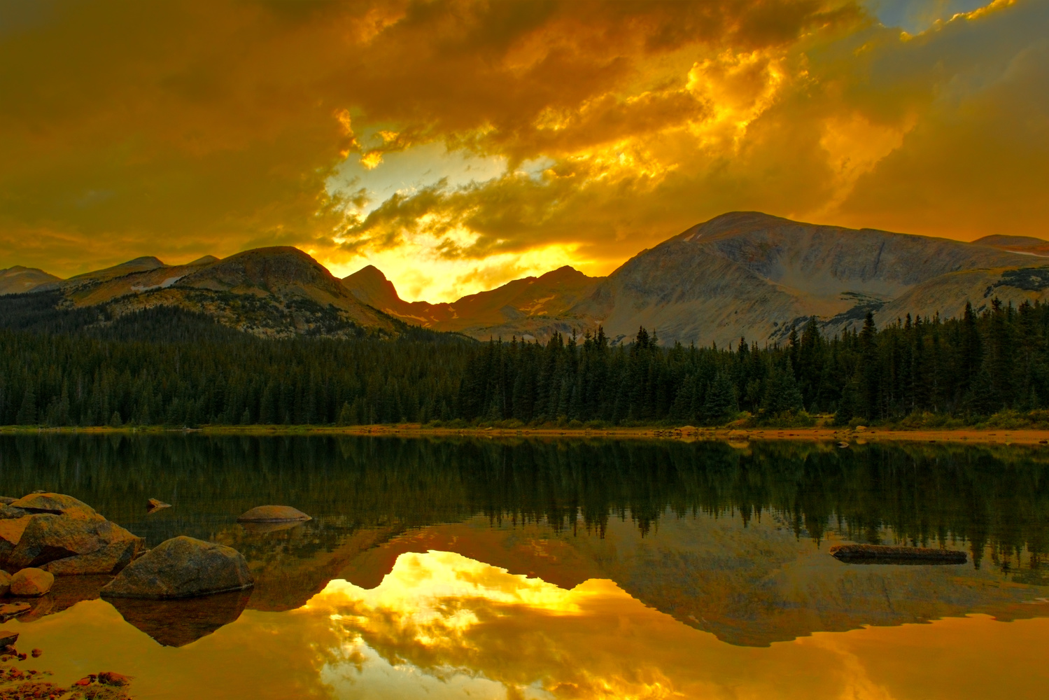 Golden Sunset at Brainard Lake by Tong Thao