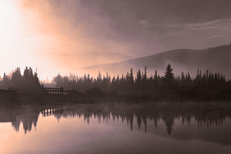 Morning Fog at Brainard Lake by Tong Thao