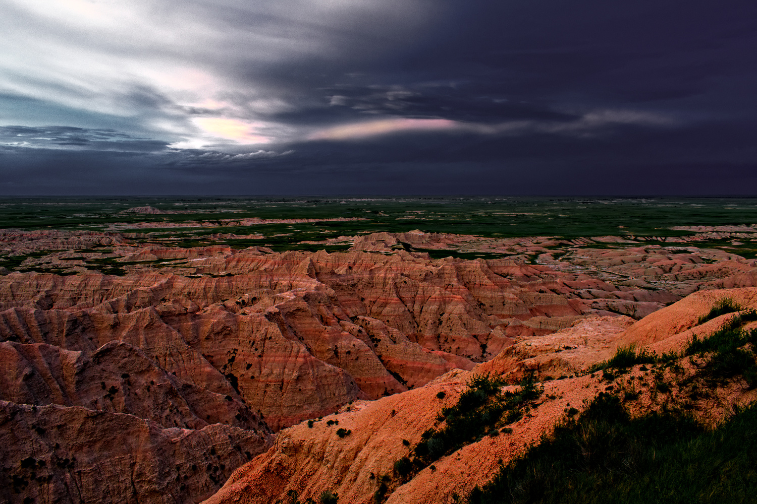 Cliff Side View of the Badlands by Tong Thao