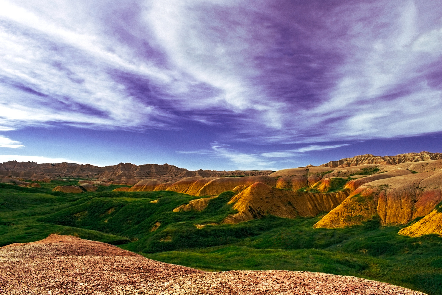 The Yellow Mounds of the Badlands by Tong Thao