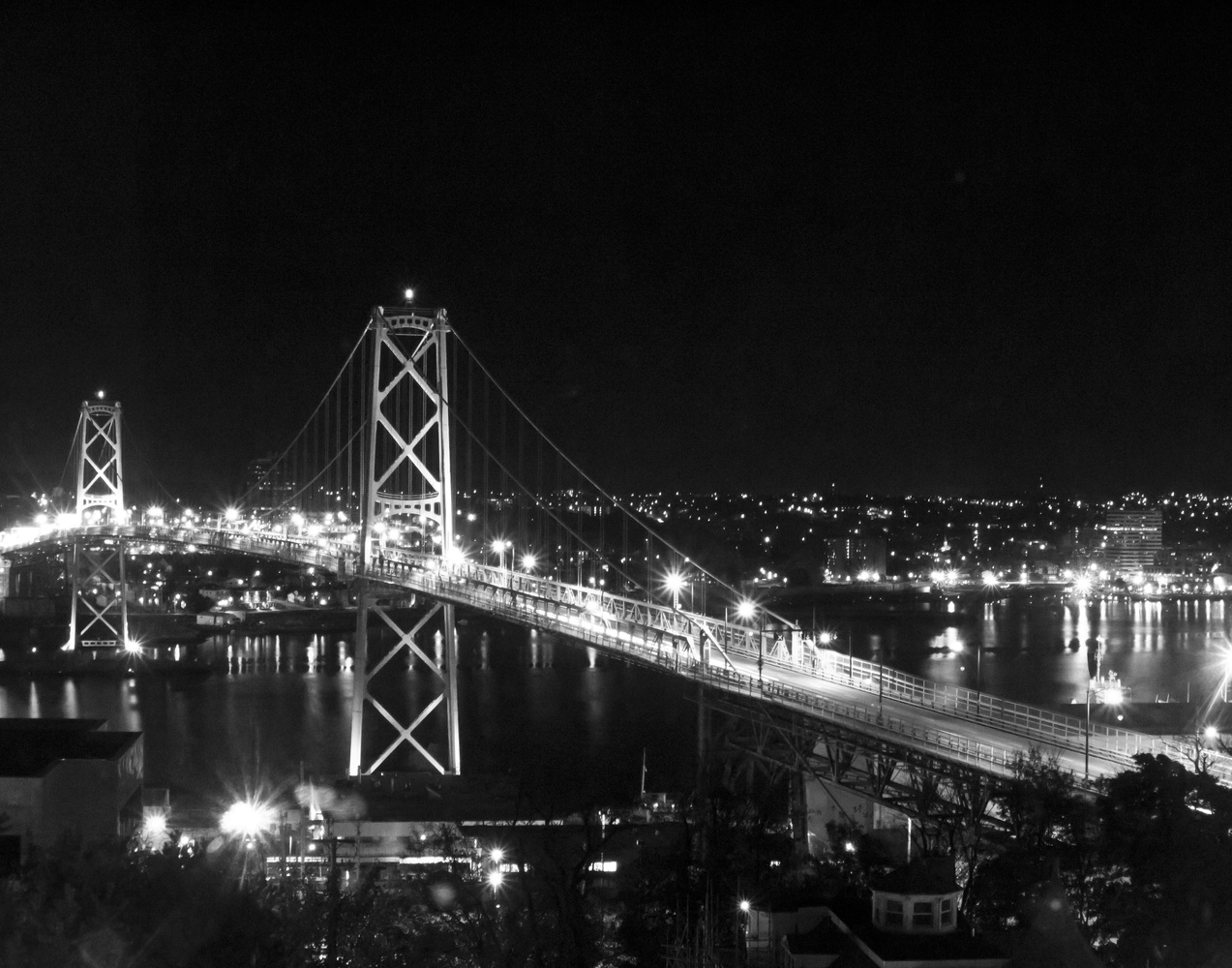 MacDonald Bridge In Halifax by James Jewers