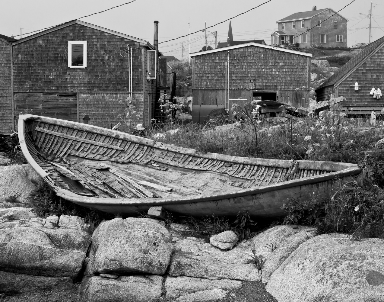 Old Dory At Peggy's Cove by James Jewers