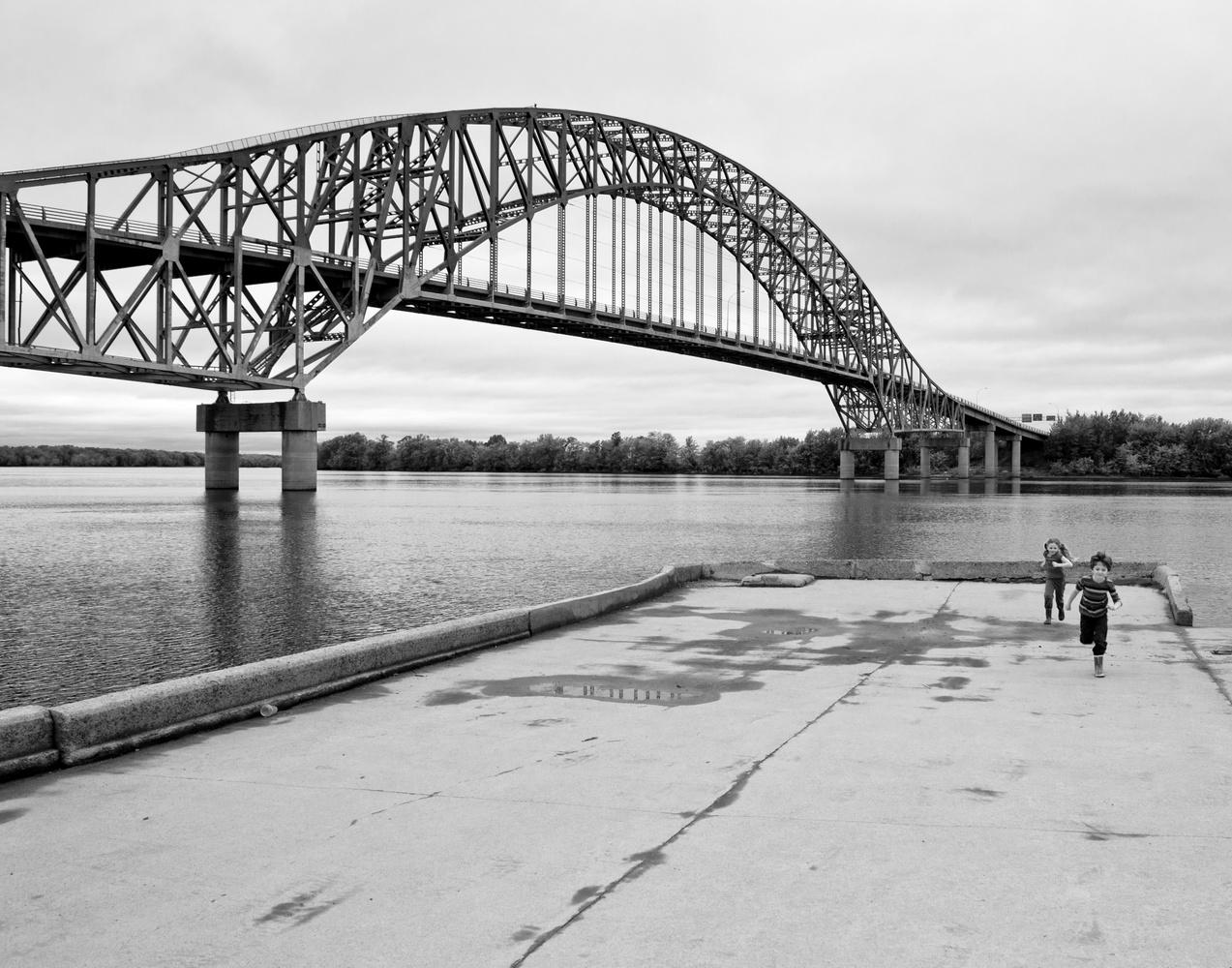 The Burton Bridge Over St John River by James Jewers