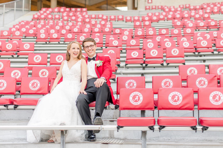 Epic University of Alabama Stadium Wedding Portrait by Katie Dixon