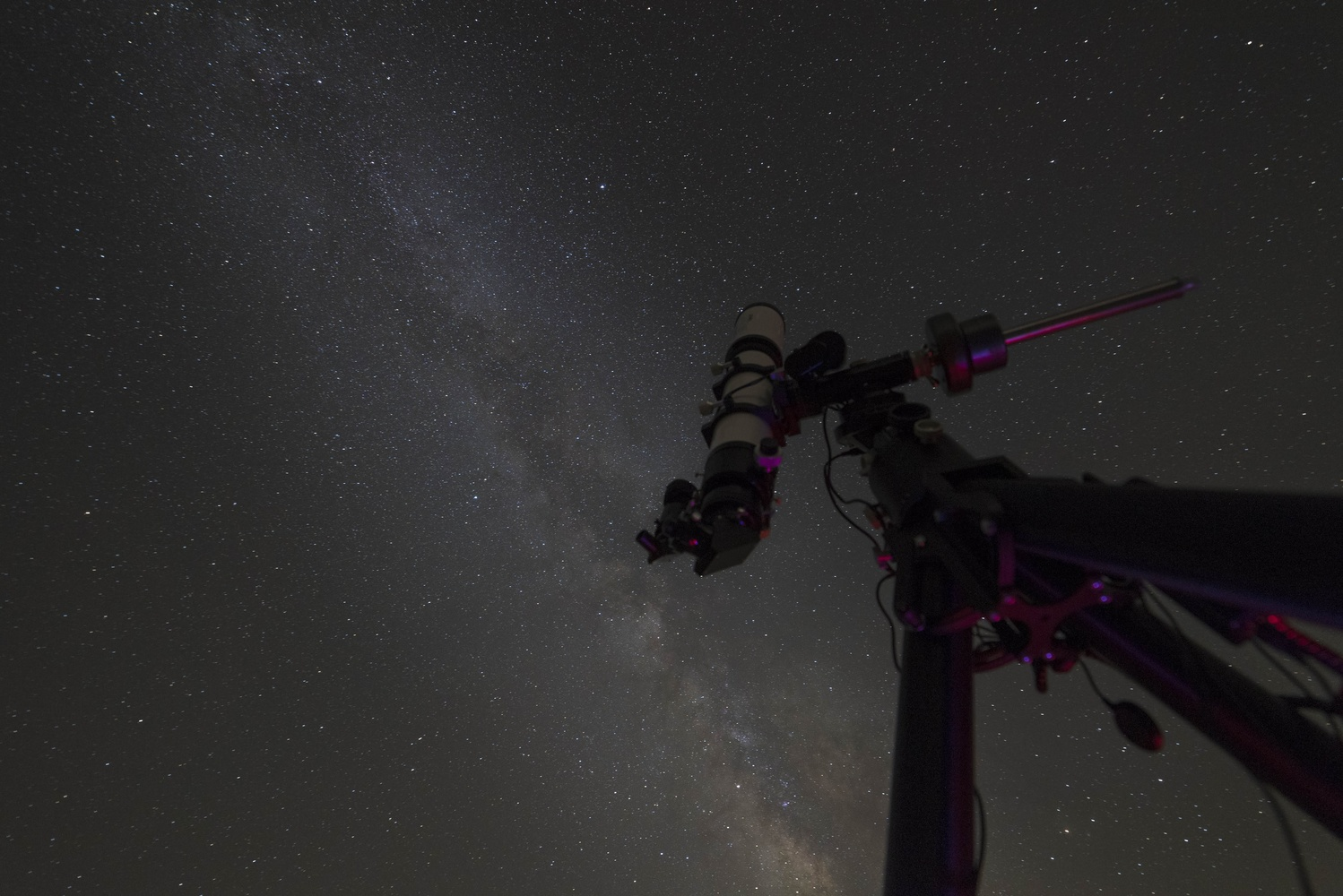 A telescope and the sky by Brad Hoehne