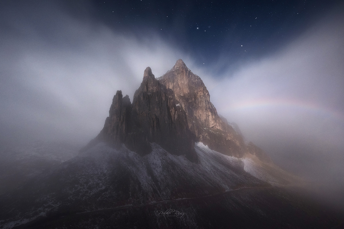 Lunar Rainbow by Pablo Ruiz Garcia