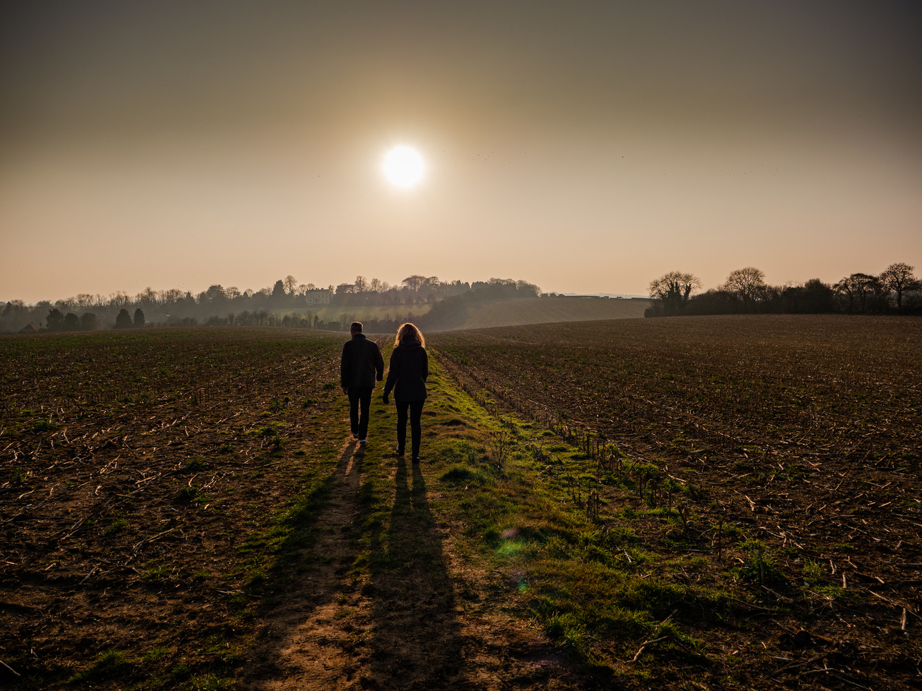 Sunset couple by Richard Gale