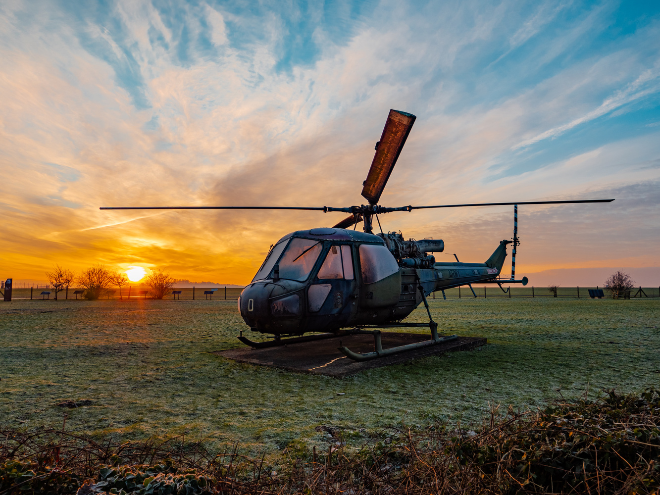 Frosty Helicopter by Richard Gale