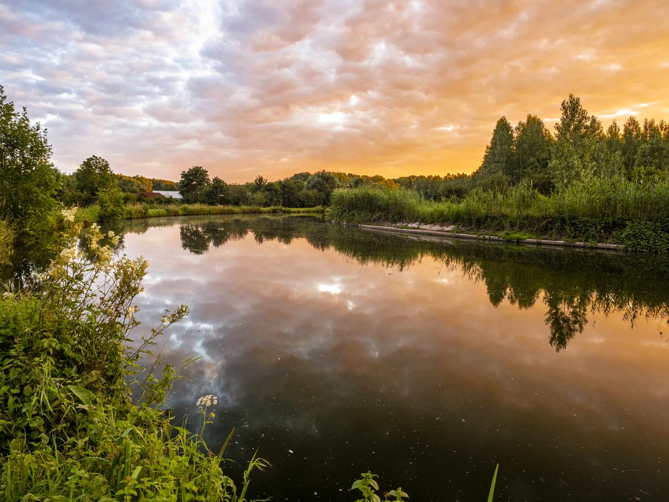 River Dender Sunset by Richard Gale