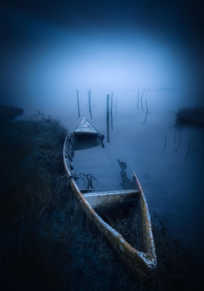 A Dark Postcard from Aveiro Lagoon by Tiago Marques