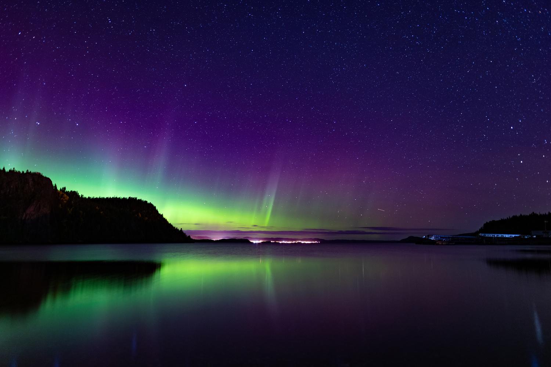 Aurora Borealis from a distance. by Muneeb Khalid