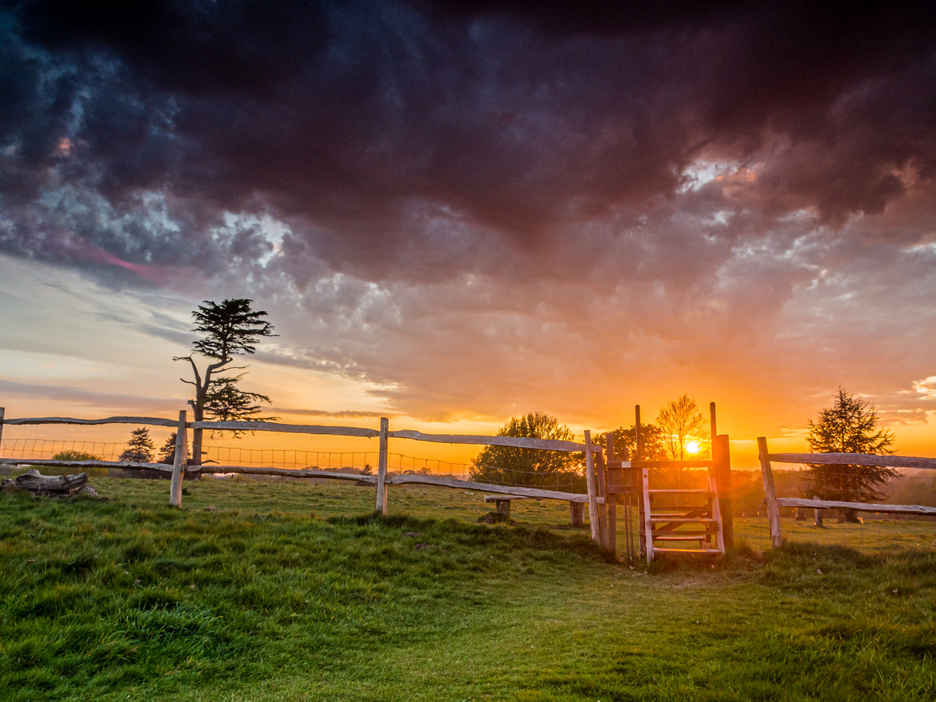 Sunset over the Stile by Peter Holloway