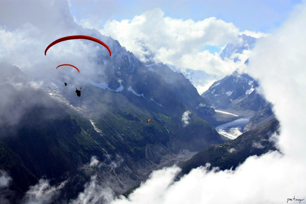Flying over: Mer du Glace by Alexandro Lacadena