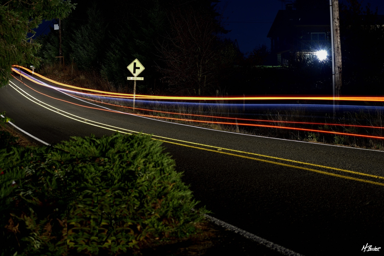 COUNTRY ROAD AT NIGHT by Michael Becker