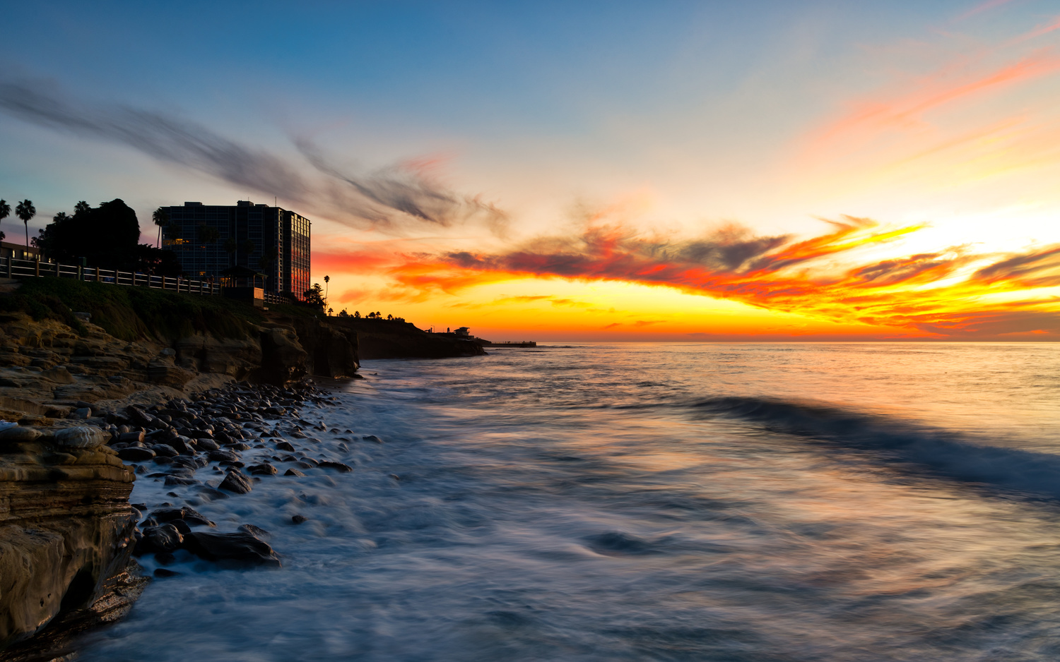 Sunset by the Sea by Keshava Mysore