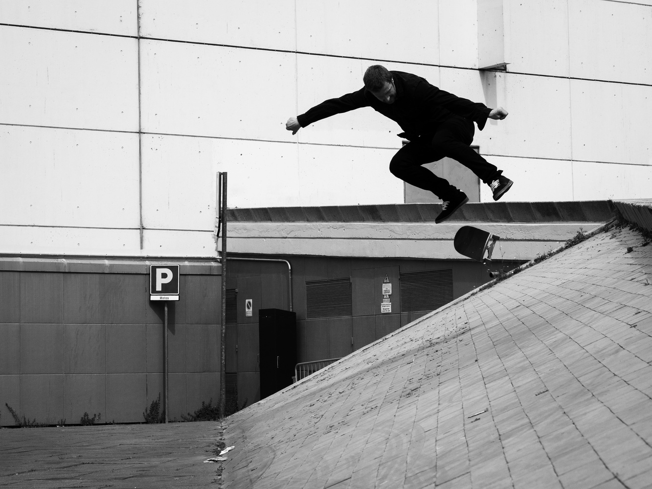 Backside flip by Thomas Wragg