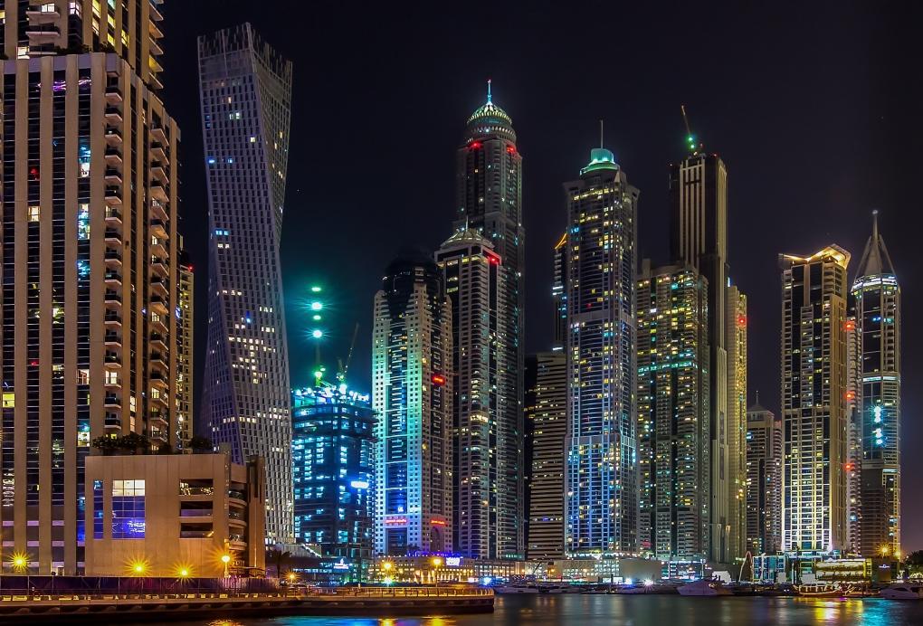 Dubai Marina by night by Damon McDonald