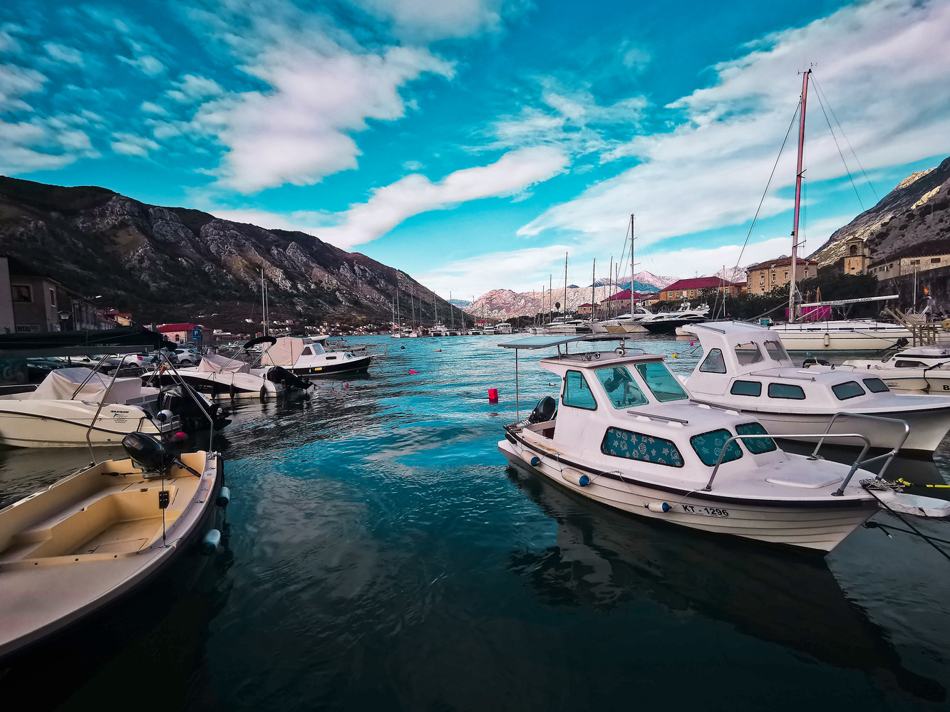 kotor marina by andrew turnbull
