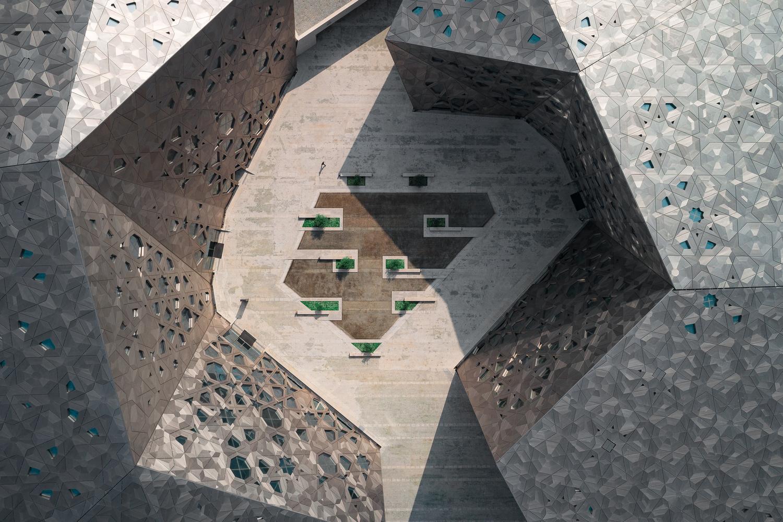 Sheikh Jaber al Ahmad Cultural Centre: The Courtyard by Joe Unsworth
