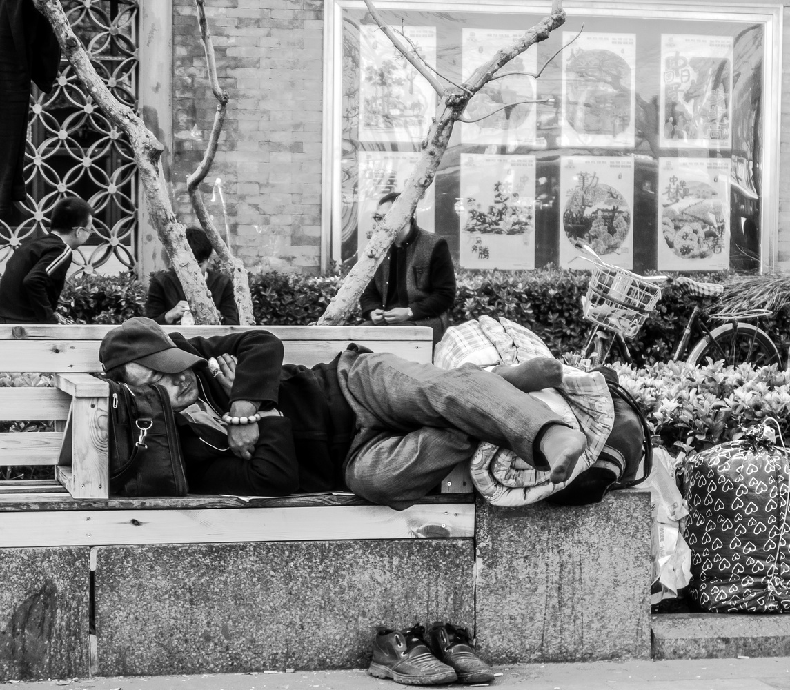Sleeping man by Chris Mummery