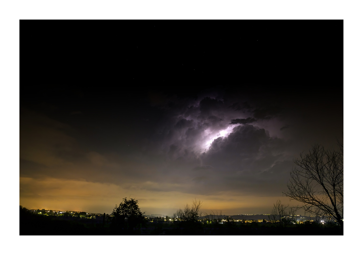 In cloud lightning by Clare Lusher