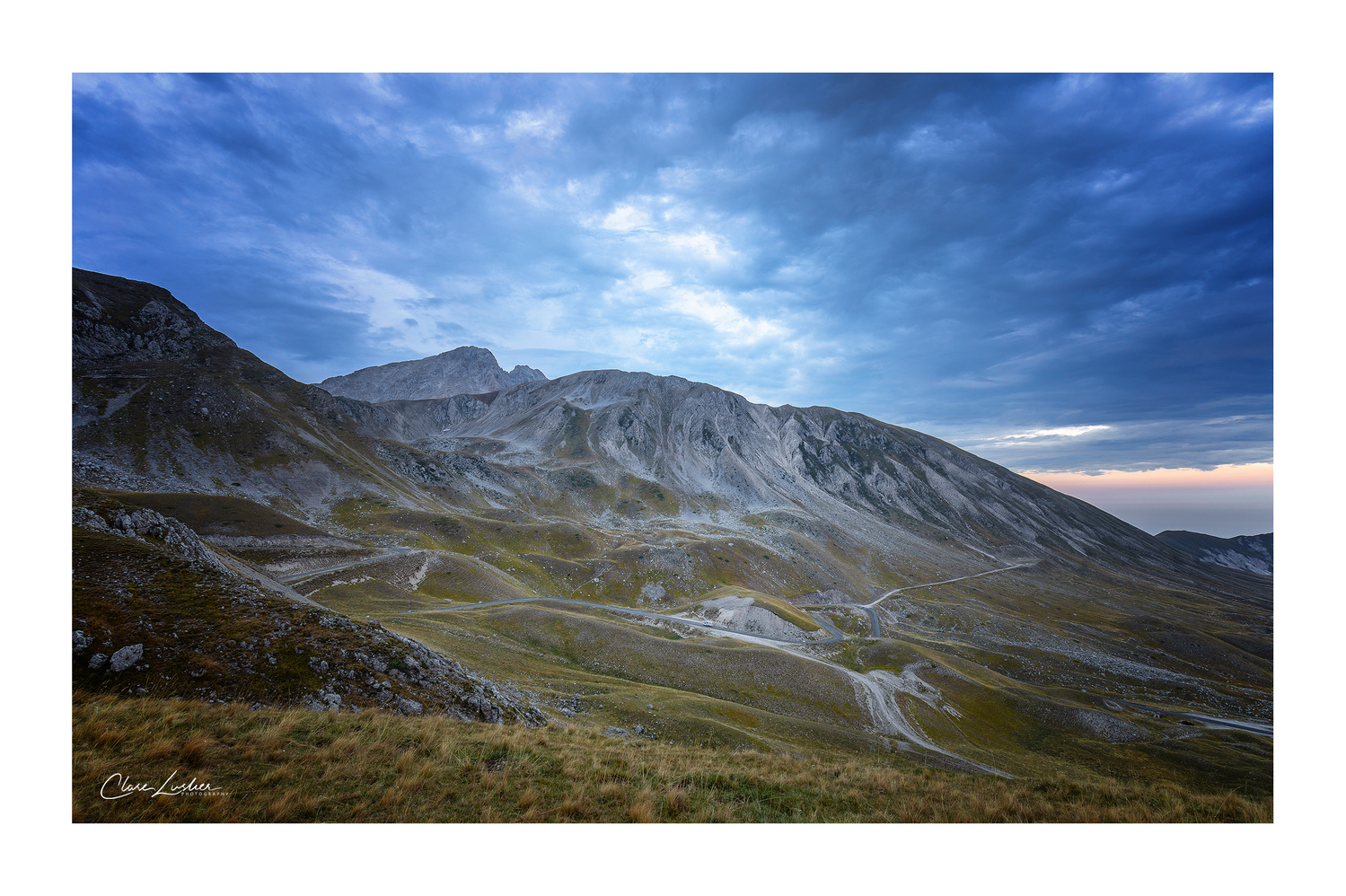 Campo Imperatore at Blue Hour by Clare Lusher