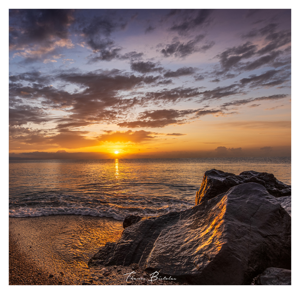 Sunrise in Giardini Naxos-Sicily by Thanos Bistolas