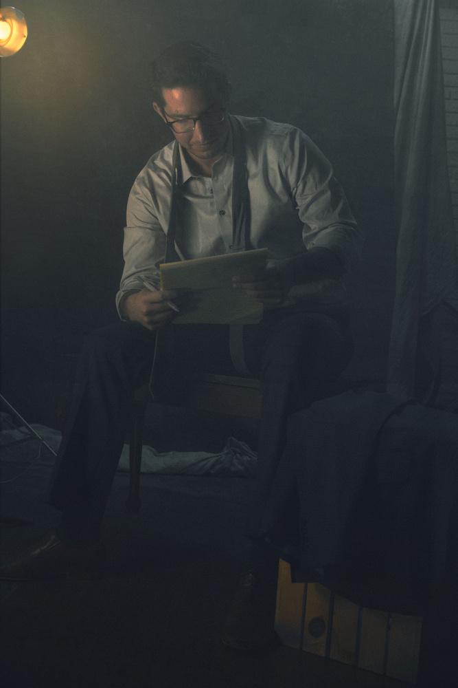 Portrait of Writer by Eli Dreyfuss