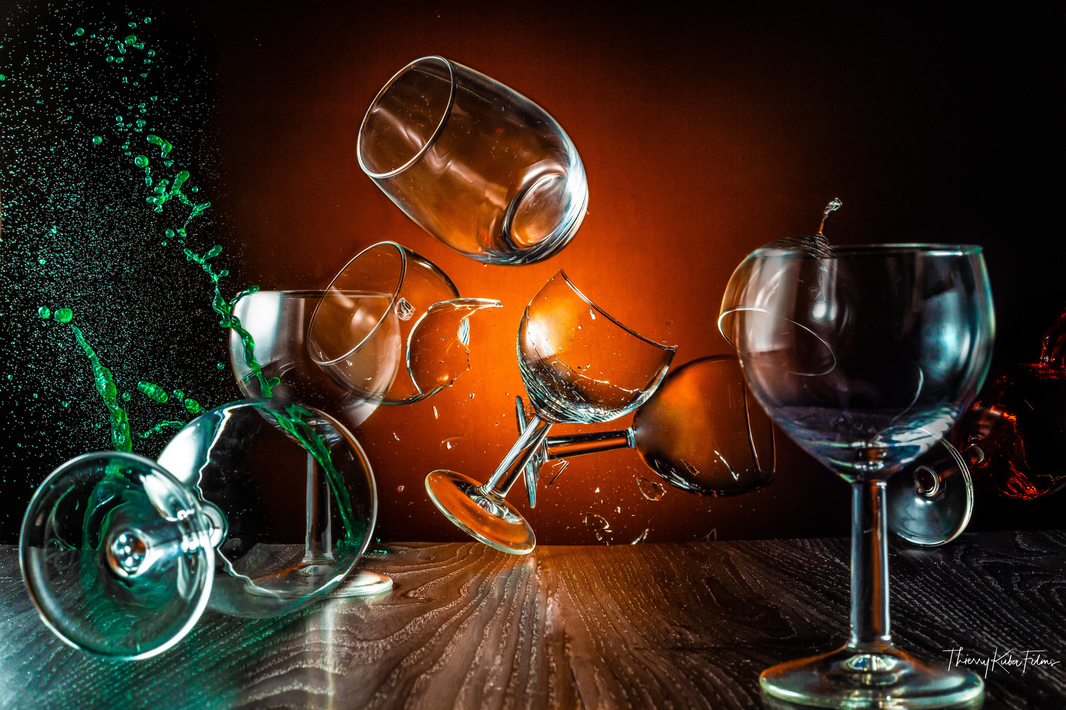 Splash glasses by Thierry KUBA