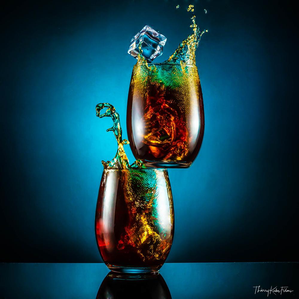 Glass splash by Thierry KUBA