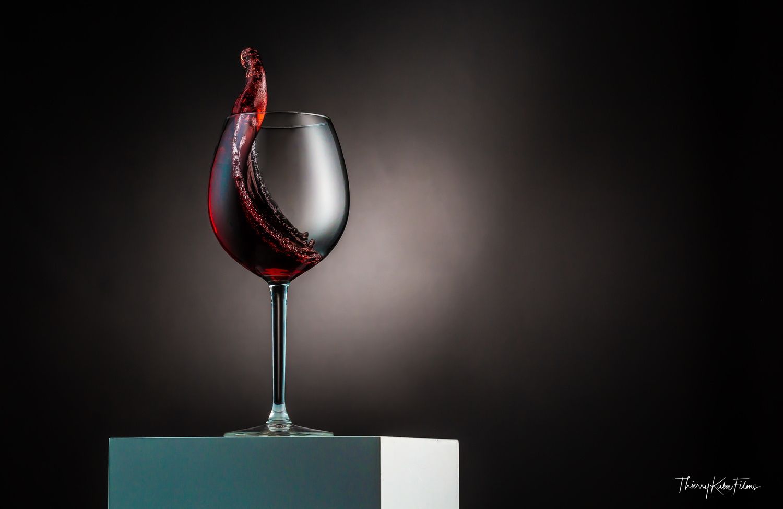 swirl of wine by Thierry KUBA