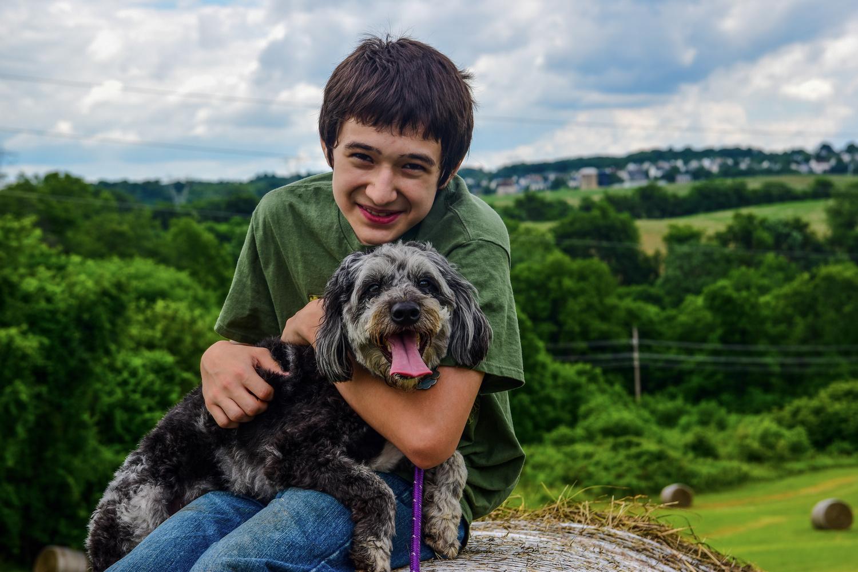 boy and dog by Chris Freeman