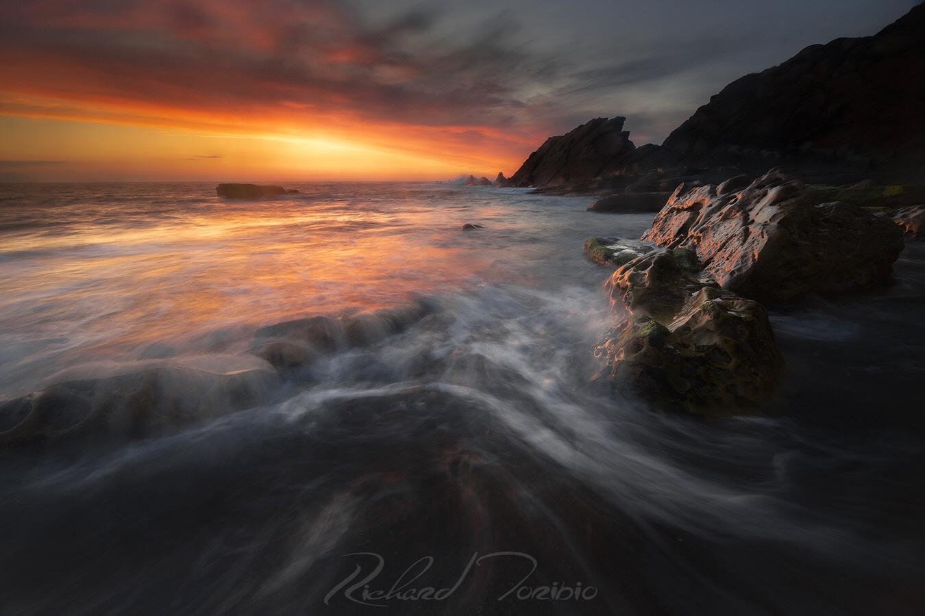 Epic sunset by richard toribio casares