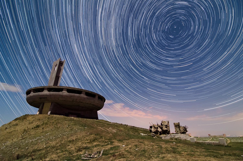 Buzludzha Star Trails by Mark O'Neill