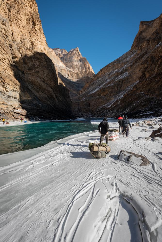 The frozen river by Ashish Tamhane