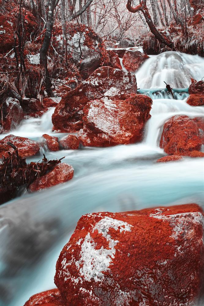 Mountain stream 1 by Tomislav Vujeva