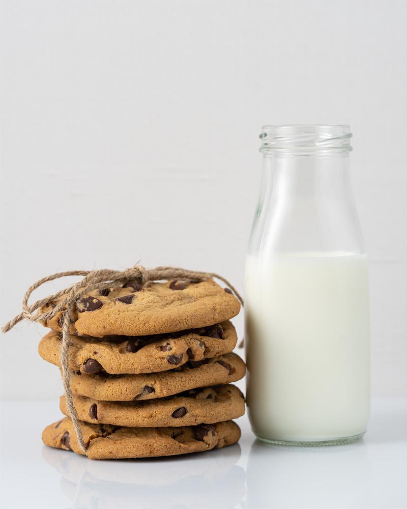 Cookies and milk by Skyler Ewing